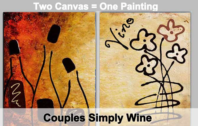 Houston Couples Wine Painting Class