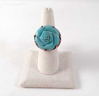 Houston Turquoise Rose Sterling Silver Ring